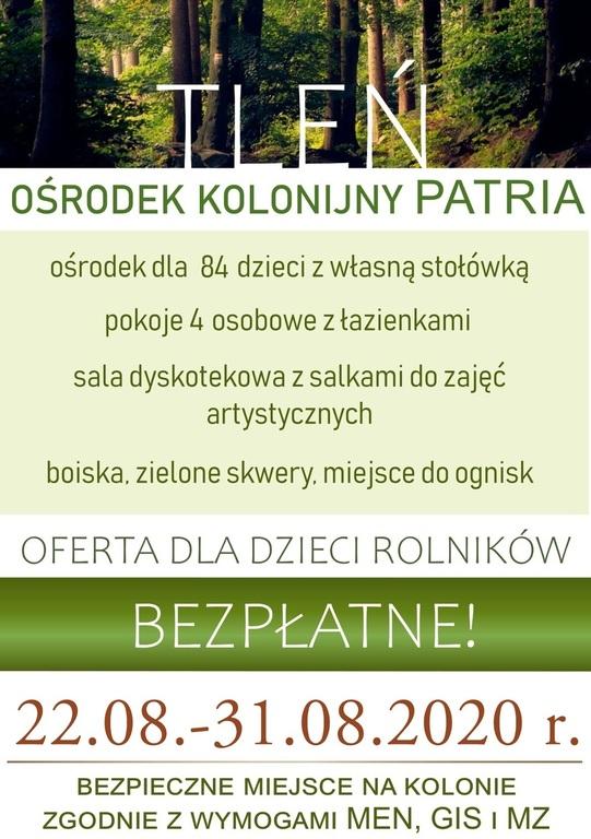Plakat informujący o wycieczce.