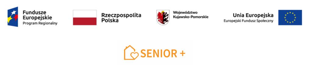 Logo Funduszy Europejskich oraz programu Senior plus.