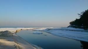Zimowa plaża w Dębkach [300x169]