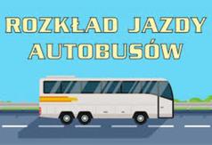 Rozkład jazdy autobusów - obraz dekoracyjny