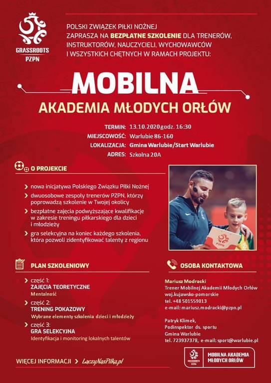 Plakat Mobilna Akademia Młodych Orłów (link otworzy duże zdjęcie)