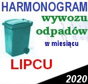 Odbiór odpadów w lipcu 2020