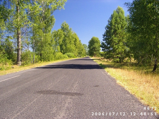 Droga Szeliga – Huta Podgórna po remoncie.