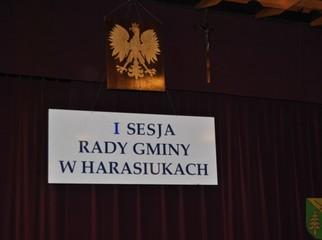 W dniu 29 listopada 2010r. o godz. 14,00 odbyła się I Sesja Rady Gminy w Harasiukach VI kadencji.