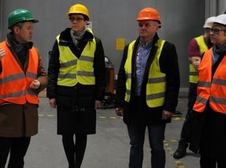 Wójt Magdalena Forc-Cherek. Sekretarz Tomasz Rogalski oraz Naczelnik Lucyna Probe odwiedzili 04.12.2019