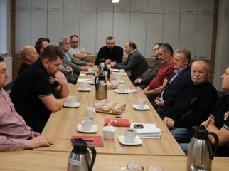 Podczas lutowego posiedzenia Zarządu Oddziału Gminnego ZOSP RP druhowie podsumowali styczniową kampani