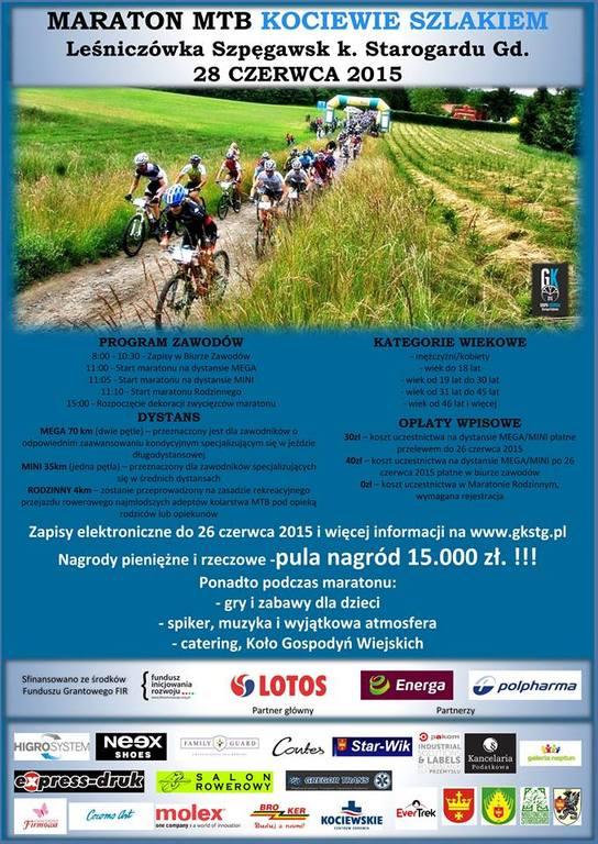 Maraton MTB Kociewie Szlakiem 2015