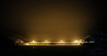 Zapora Pilchowice nocą