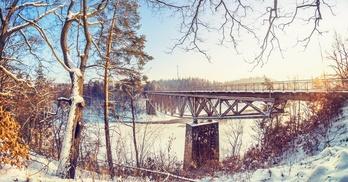 wiadukt na jeziorze pilchowickim
