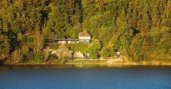 stacja kolejowa Pilchowice, jezioro pilchowickie