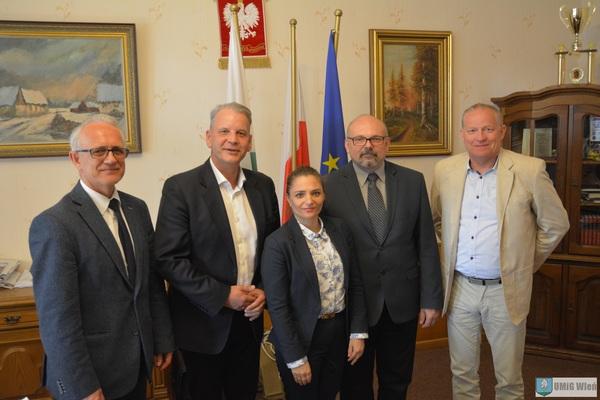 wizyta u burmistrza Łobżenicy Piotra Łososia