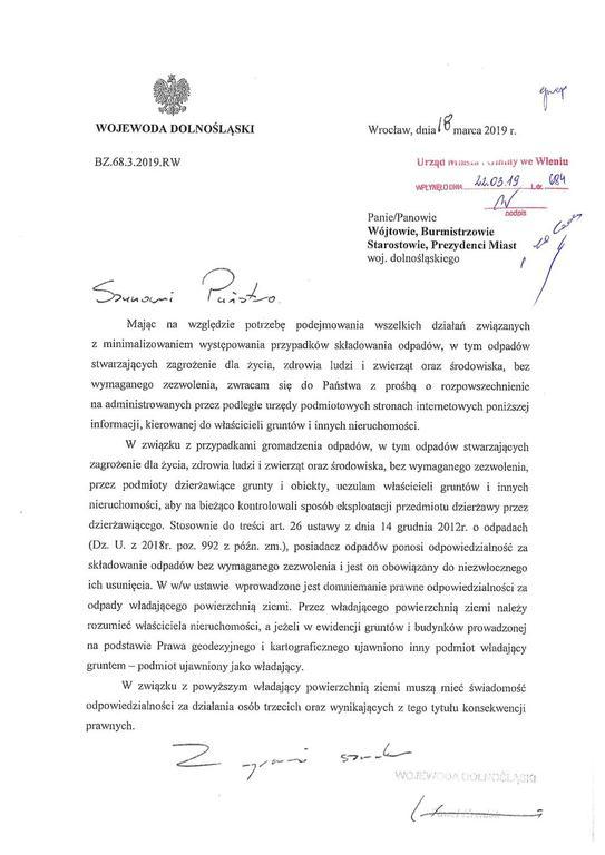 Informacja Wojewody (link otworzy duże zdjęcie)