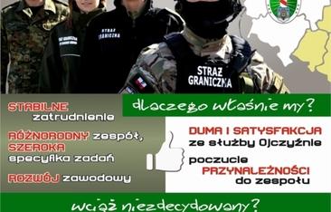 plakat nabór do Straży Granicznej