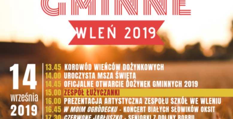 plakat dożynki gminne 2019