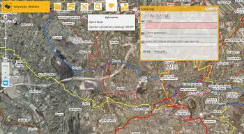 Zdjęcie przedstawia informacje o szlakach rowerowych i turystycznych