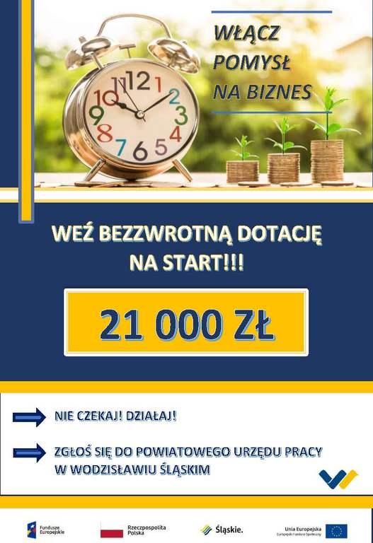 21 000 złotych na pierwszy biznes