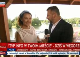 W miniony weekend Węgorzewo odwiedziła ogólnopolska stacja telewizyjna. W Ekomarinie swoje stanowisko