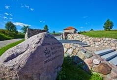 Kamień upamiętniający na cmentarzu wojennym z I wojny światowej