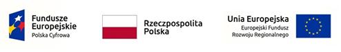 Baner z logotypami Funduszy Europejskich, Rzeczypospolitej Polskiej i Europejskiego Funduszu Rozwoju Regionalnego