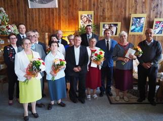 """W dniu 25 września w restauracji """"Cafe Sanacja"""" w Horyńcu-Zdroju odbyły się uroczystości jubileu"""