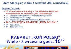Plakat Dożynki Gminne - Wiele 2019.