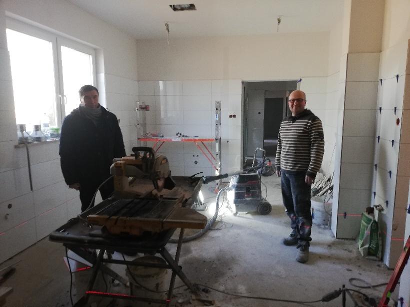 Powoli kończą się prace modernizacyjne w zapleczu kuchennym Domu Kultury w Wielu. (link otworzy duże zdjęcie)