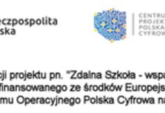 Zakup sfinansowany w ramach realizacji projektu pn. Zdalna Szkoła - wsparcie Ogólnopolskiej Sieci Eduka