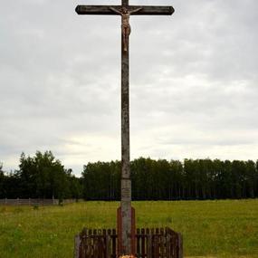 Przydrożny krzyż w Adamowie