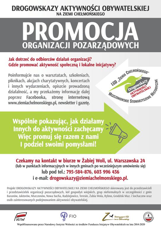 Logo projektu Drogowskazy Aktywności Obywatelskiej na Ziemi Chełmońskiego (link otworzy duże zdjęcie)