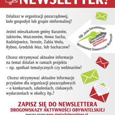 Informacja dotycząca uzyskania dostępu do newslettera projektu (link otworzy duże zdjęcie)