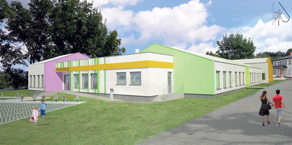 Budowa przedszkola w Radziejowicach - postęp prac