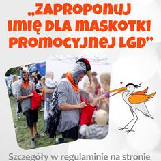 Konkurs na imię dla maskotki stowarzyszenia LGD Ziemia Chełmońskiego (link otworzy duże zdjęcie)