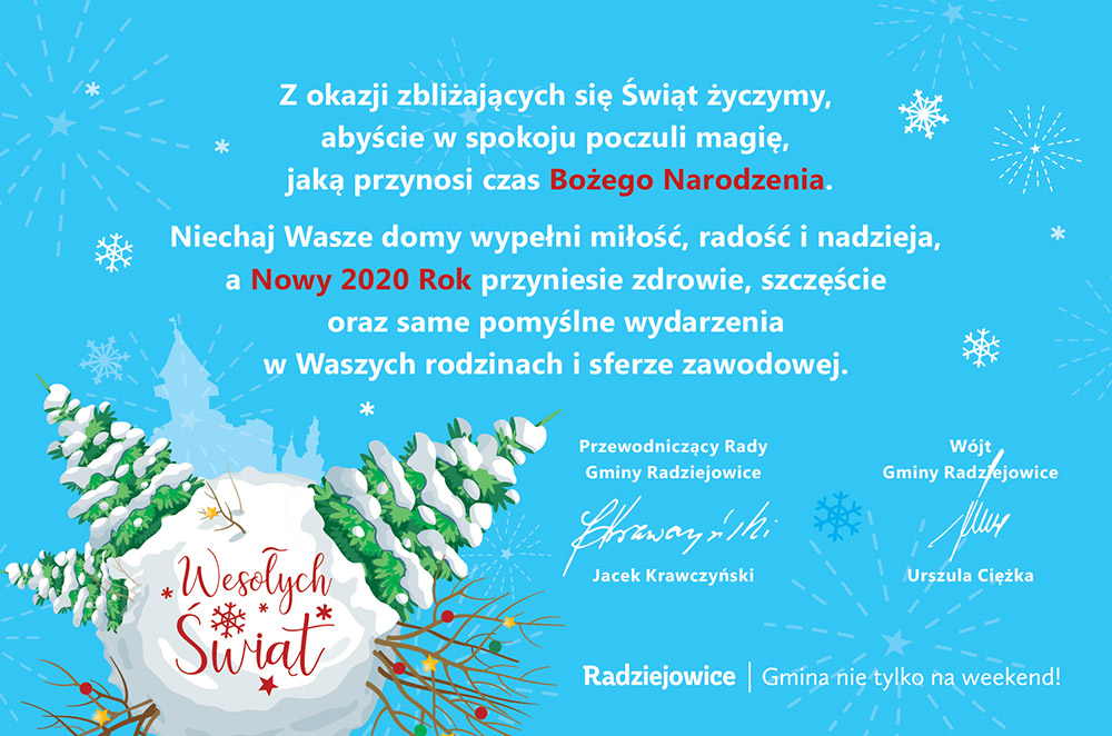 Życzenia świąteczne Wójta Gminy (link otworzy duże zdjęcie)