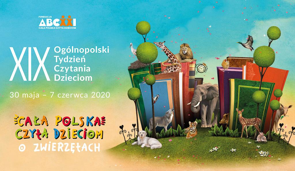 Cała polska czyta dzieciom plakat akcji
