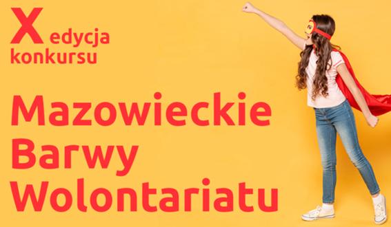 Mazowieckie Barwy Wolontariatu plakat informacyjny