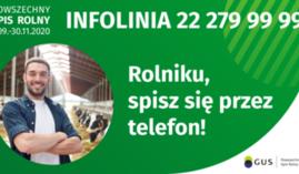 Powszechny Spis rolny 2020 informacja o możliwości spisu telefonicznego