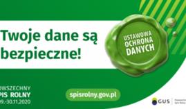 Powszechny spis rolny - informacja na temat bezpieczeństwa danych osobowych.