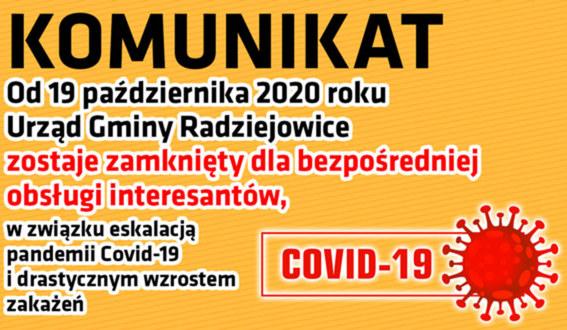 Informacja dotycząca Covid-19