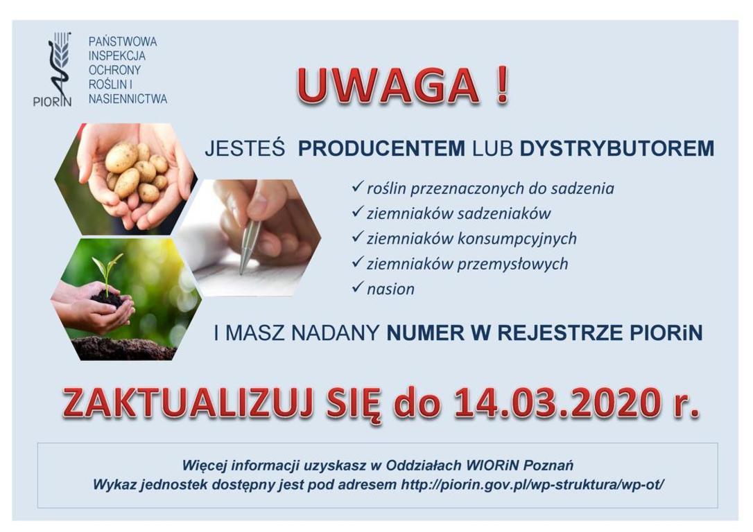 Informacja dla producentów lub dystrybutorów ziemniaków (link otworzy duże zdjęcie)