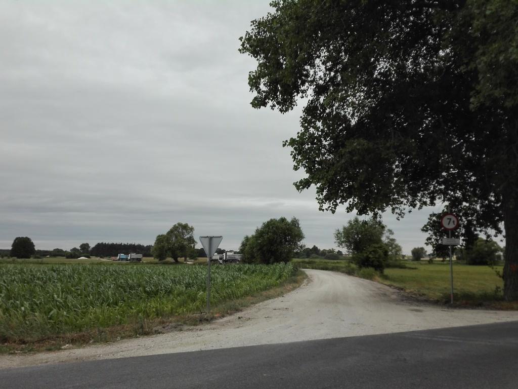 widok drogi przed przebudową