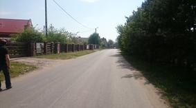 Ulica przed budową chodnika