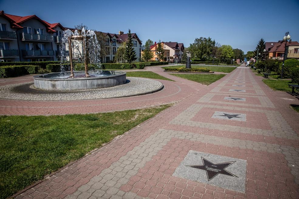 Aleja Gwiazd Sportu i fontanna
