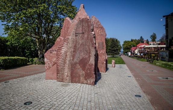Rzeźba Korona Himalajów na Alei Gwiazd Sportu
