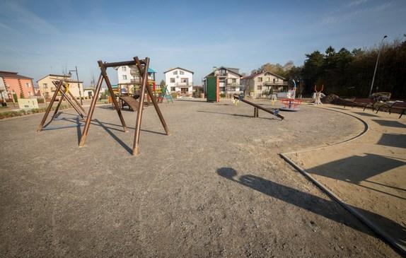 Plac zabaw dla dzieci na skwerze