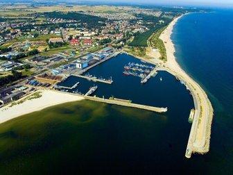 Władysławowo z lotu ptaka, widok na port.