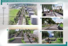 Projekt koncepcyjny przeobrażenia ulicy Hallera we Władysławowie