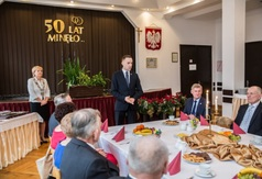 Obchody Złotych, Diamentowych i Żelaznych Godów w sali 103 Urzędu Miejskiego we Władysławowie