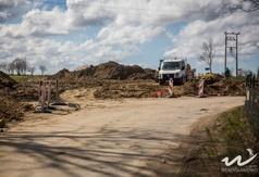 Roboty przy skrzyżowaniu Drogi Chłapowskiej z drogą na Łebcz