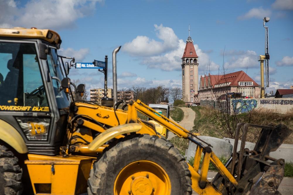 Budowa ciągu pieszo-rowerowego łączącego ul. Szkutników z Hallera (link otworzy duże zdjęcie)