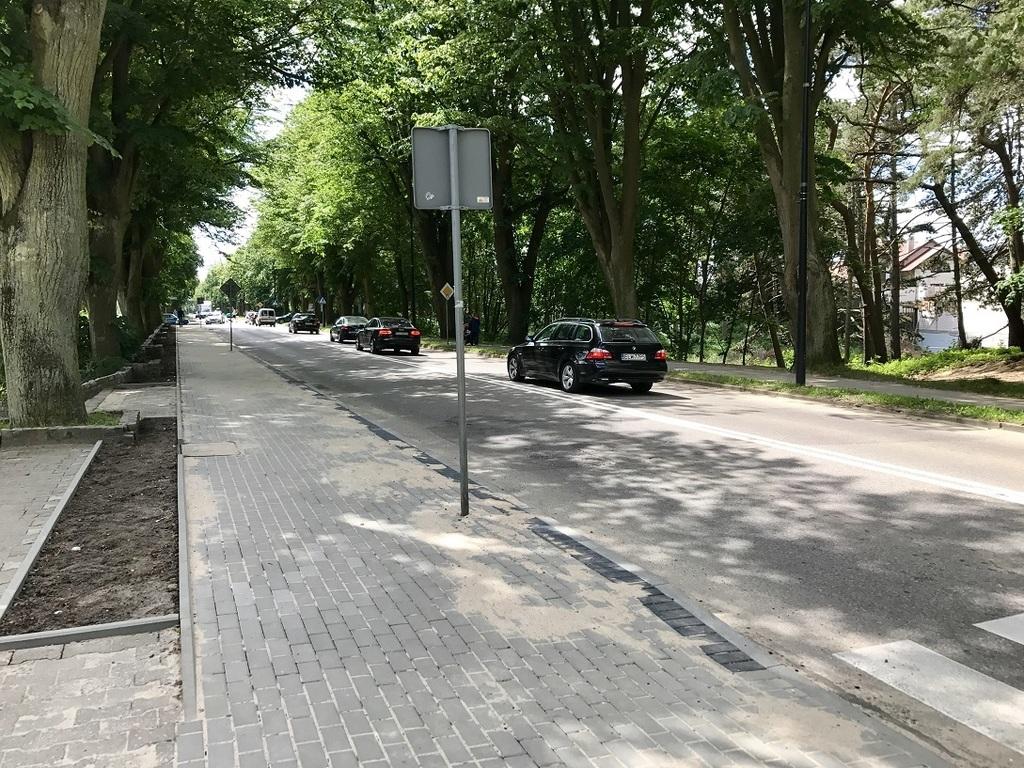 Zakończona budowa kanalizacji i chodnika przy Alei Żeromskiego we Władysławowie (link otworzy duże z